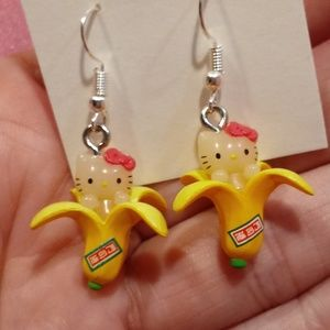 🔥🆕🔥 Hello Kitty Limited Edition Banana Earrings